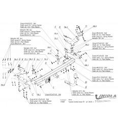 Фаркоп на Toyota Corolla Verso T/032