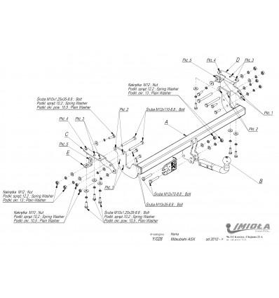 Фаркоп на Citroen C4 Aircross Y/028