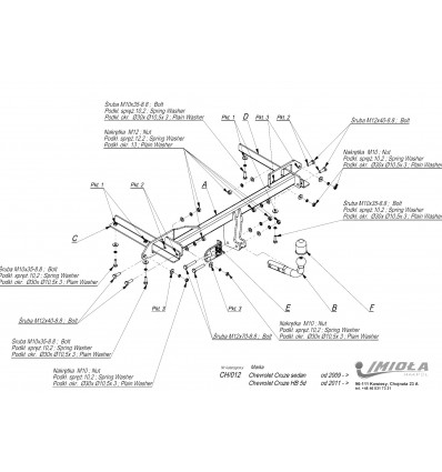 Фаркоп на Chevrolet Cruze CH.012