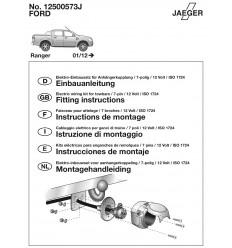 Штатная электрика к фаркопу на Ford Ranger 12500573