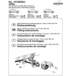 Штатная электрика к фаркопу на Opel Astra 12150522