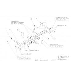 Фаркоп на Mazda 3 X/026