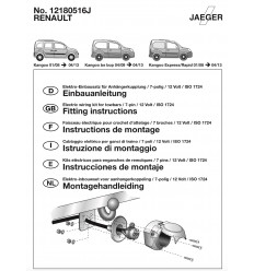Штатная электрика к фаркопу на Renault Kangoo 12180516