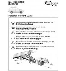Штатная электрика к фаркопу на Subaru Forester 16230510