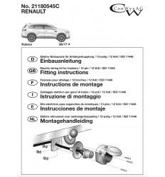 Штатная электрика к фаркопу на Renault Koleos 21180545