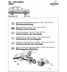 Штатная электрика к фаркопу на Jeep Cherokee 12610509