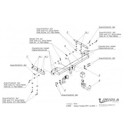 Фаркоп на Subaru Forester U/A05