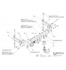 Фаркоп на Subaru Tribeca U/A03