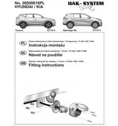 Штатная электрика к фаркопу на Hyundai Tucson 26500616