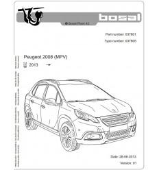 Фаркоп на Peugeot 2008 037-801