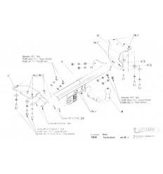 Фаркоп на Toyota Auris T/035