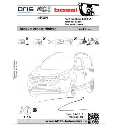 Фаркоп на Renault Dokker 1439-A