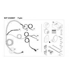 Штатная электрика к фаркопу на Mercedes A/B/CLA/GLA 107326/232807