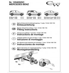 Штатная электрика к фаркопу на Mercedes GLE 12040525