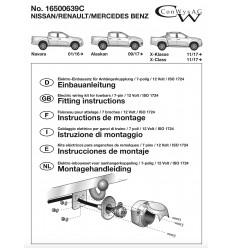 Штатная электрика к фаркопу на Mercedes X-Class 16500639