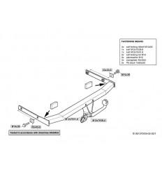Фаркоп на Volkswagen Golf 4 261300