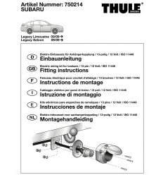 Штатная электрика к фаркопу на Subaru Legacy 750214