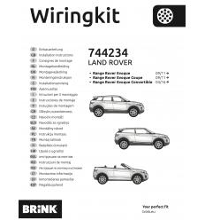 Штатная электрика к фаркопу на Range Rover Evoque 744234