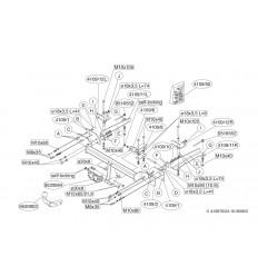 Фаркоп на Honda Accord 410900