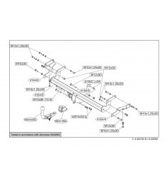 Фаркоп на Mitsubishi Lancer 9 416400