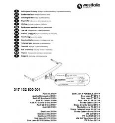 Фаркоп на Audi A3 317132600001