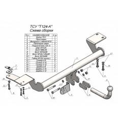 Фаркоп на Toyota Camry T124-A