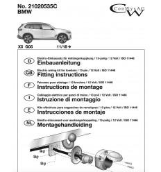 Штатная электрика к фаркопу на BMW X5 21020535