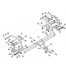 Фаркоп на Mazda BT50 307443600001