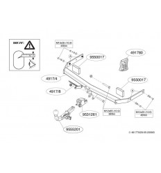 Фаркоп на Volkswagen Golf 6 491700