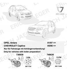 Штатная электрика к фаркопу на Opel Antara 12500566