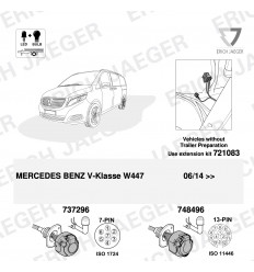 Штатная электрика к фаркопу на Mercedes V/Vito 121749/737296