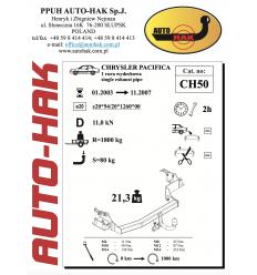 Фаркоп на Chrysler Pacifica CH 50