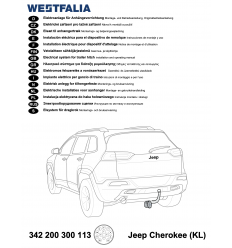 Штатная электрика к фаркопу на Jeep Cherokee 342200300113