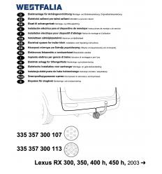 Штатная электрика к фаркопу на Lexus RX 300/350/400h/450h 335357300107