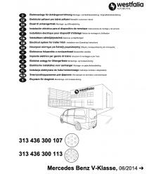 Штатная электрика к фаркопу на Mercedes V/Vito 313436300113