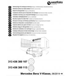 Штатная электрика к фаркопу на Mercedes V/Vito 313436300107