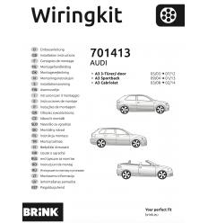 Штатная электрика к фаркопу на Audi A3/Q3 701413