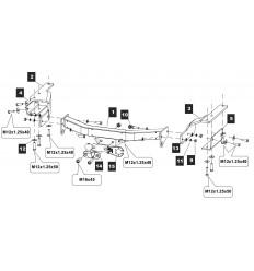 Фаркоп на Toyota Highlander 24.2553.05