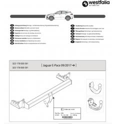 Фаркоп на Jaguar E-Pace 323179600001