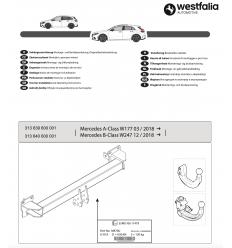 Фаркоп на Mercedes A-Class 313640600001