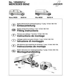 Штатная электрика к фаркопу на Mercedes Viano/Vito 12040521