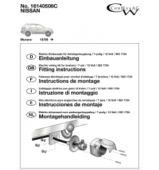 Штатная электрика к фаркопу на Nissan Murano 16140506