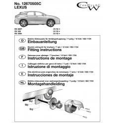 Штатная электрика к фаркопу на Lexus RX 200t/350/450h 12670505