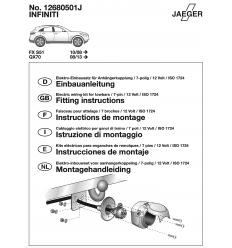 Штатная электрика к фаркопу на Infiniti FX/QX70 12680501