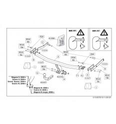Фаркоп на Renault Megane Grand Scenic 2 512500