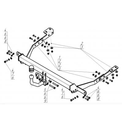Фаркоп на Citroen Berlingo 2 91601-A