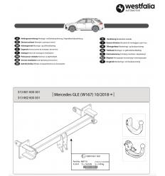 Фаркоп на Mercedes GLE 313662600001