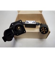 Адаптер-переходник для электрики c EURO 7-pin на USA 7-pin