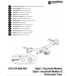 Фаркоп на Chevrolet Trax 314510600001