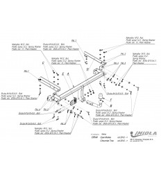 Фаркоп на Chevrolet Trax O/044